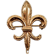 12K Rolled-Gold Vintage Fleur de Lis Watch Pin