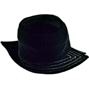 Sassy Black Velvet Hat - Chic and Fun!