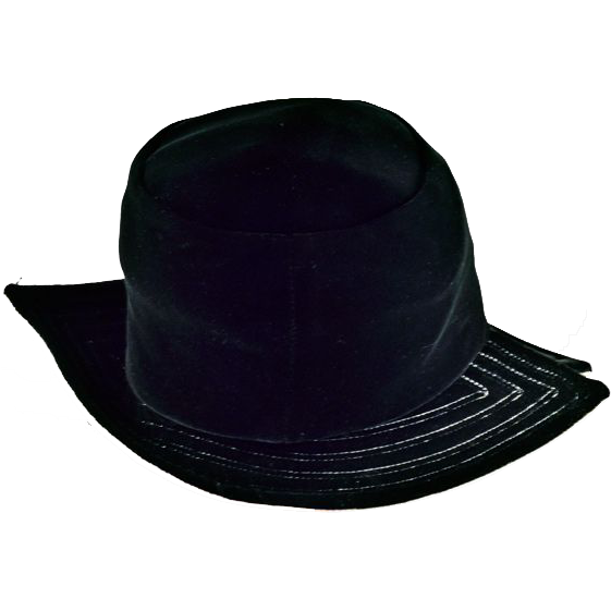 Sassy Black Velvet Hat - Chic and Fun!