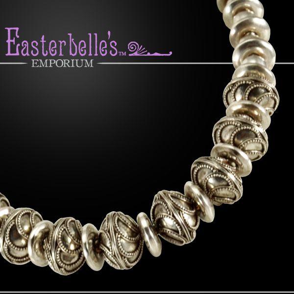 BIG BOLD Davison Artisan Sterling/Bali Silver Necklace - 133 gms!