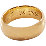 Antique 14 Karat Wedding Band Hallmarked for J. R. Wood and Sons