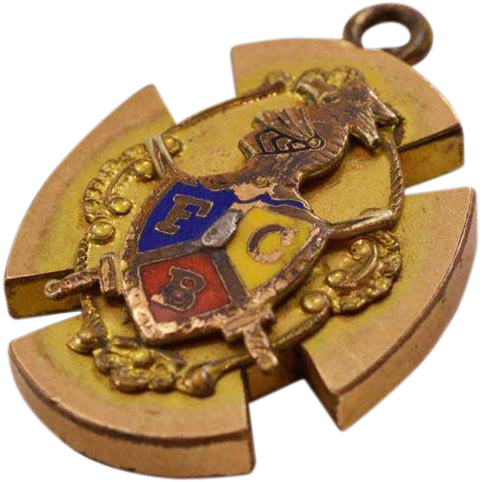 Fascinating Knights of Pythias Vintage 9K GF Pendant