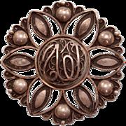Gorgeous, Unique Antique Arabic Brooch Pendant