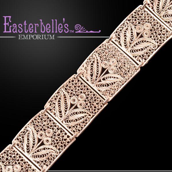 Bold, Beautiful Vintage .800 Silver German Arts and Crafts Movement Bracelet