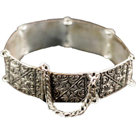 Exotic Antique .800 Silver Bracelet