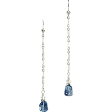 Stunning London Blue Topaz and Sterling Silver Earrings