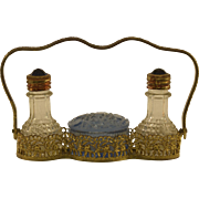Very Unique IRICE Perfume Bottles and Dish with Original Caddy