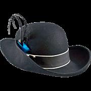 Voluminous and Dramatic Black Wool Hat