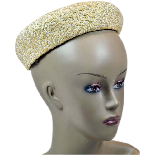 Springtime Beauty Neiman Marcus Vintage Hat in Cream and Gold-Tone