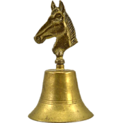 Vintage Brass Bell with Horse Motif