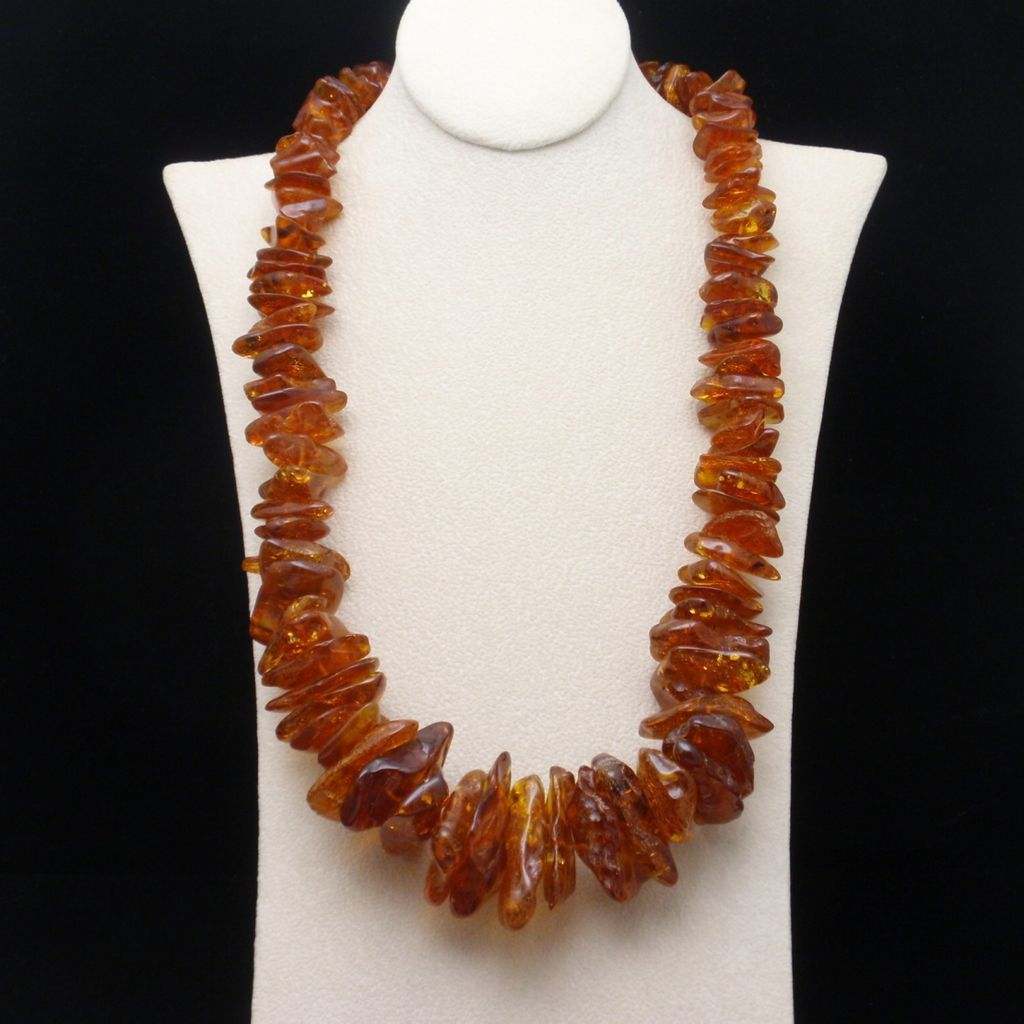 Baltic Amber Necklace Vintage Chunky