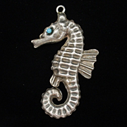 Seahorse Pendant Vintage Sterling Silver