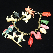 Charm Bracelet Vintage Gumball Machine & Cracker Jack