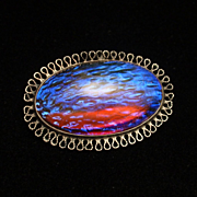 Dragon's Breath & Sterling Silver Pin Vintage