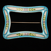 Sash Pin Vintage Sterling Silver Enamel Watson Excellent Condition