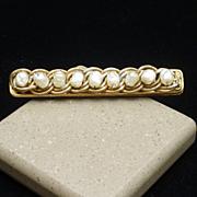 Miriam Haskell Bar Pin Vintage Baroque Pearls
