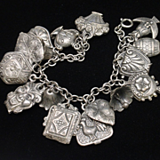 Puffy Charms Bracelet Detailed Vintage Lightweight Vintage