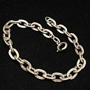 835 Silver Chain Link Bracelet for Charms Vintage