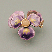 Pansy Flower Pin Very Small 1935 patent number Lingerie Beauty