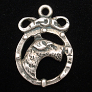 Dog Charm Vintage Sterling Silver Terrier