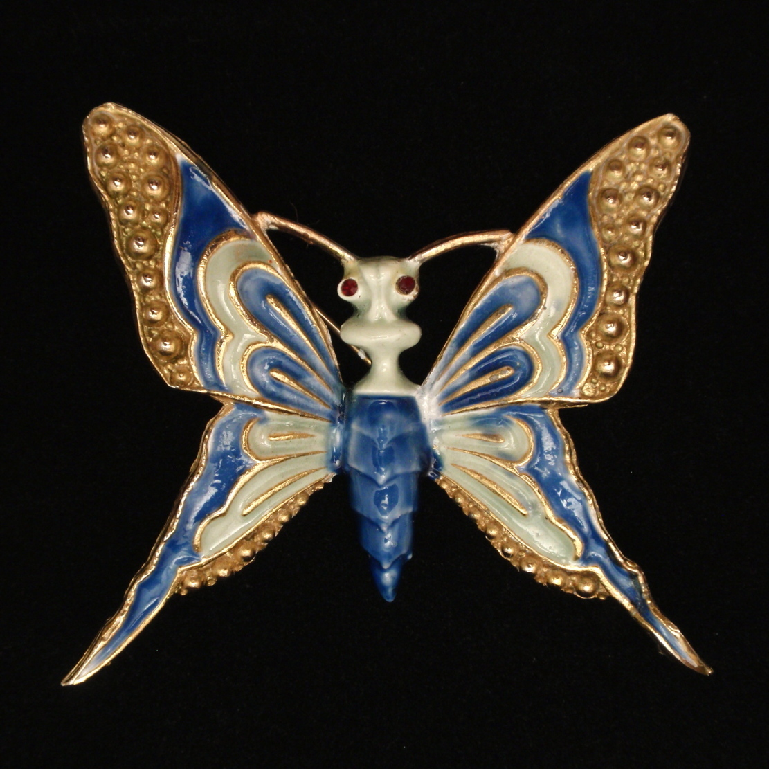 Butterfly Brooch Pin Enamel Vintage HAR