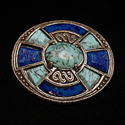 Celtic Design Brooch Pin Two Colors by Miracle
