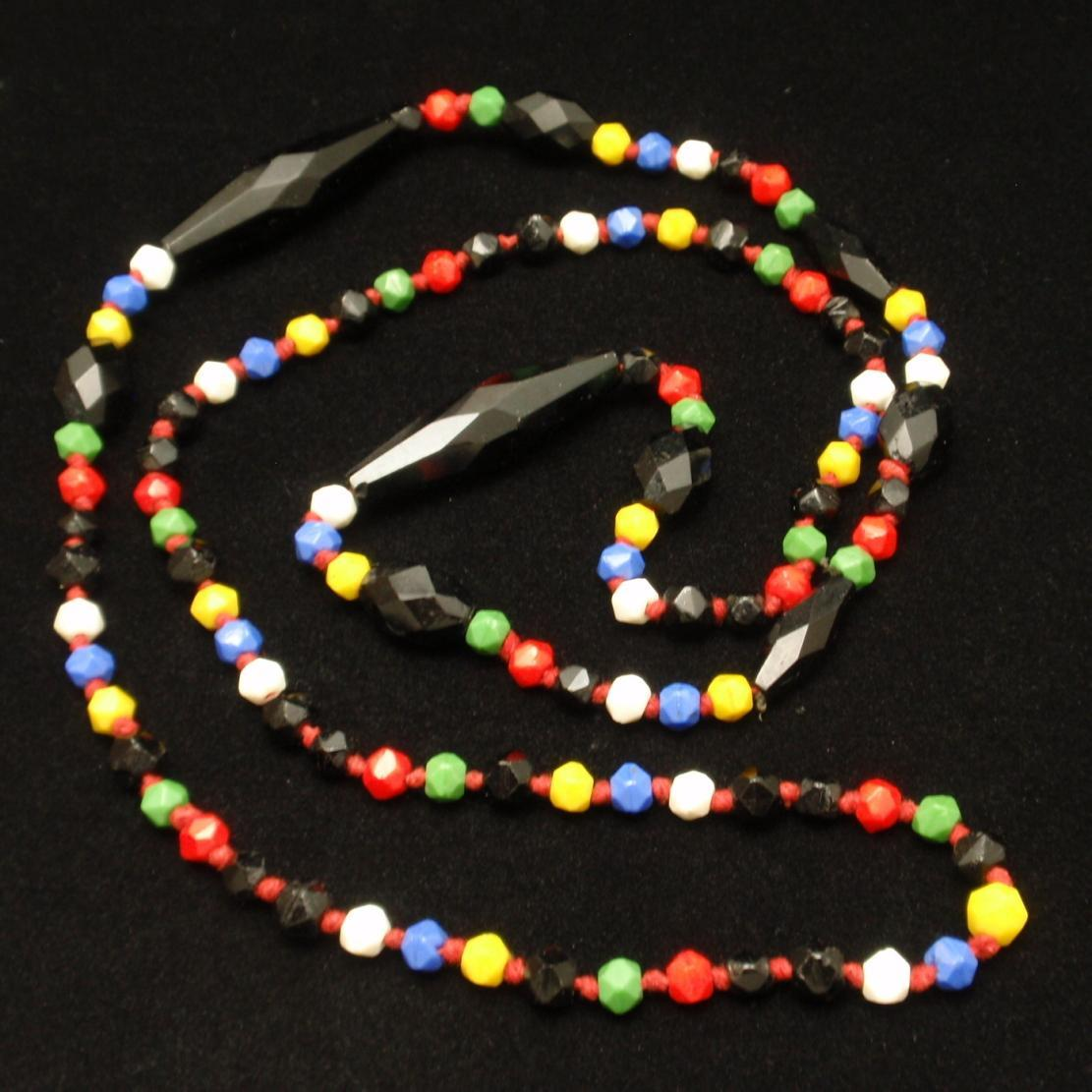 Vintage Necklace Multi-Colored Faceted Beads