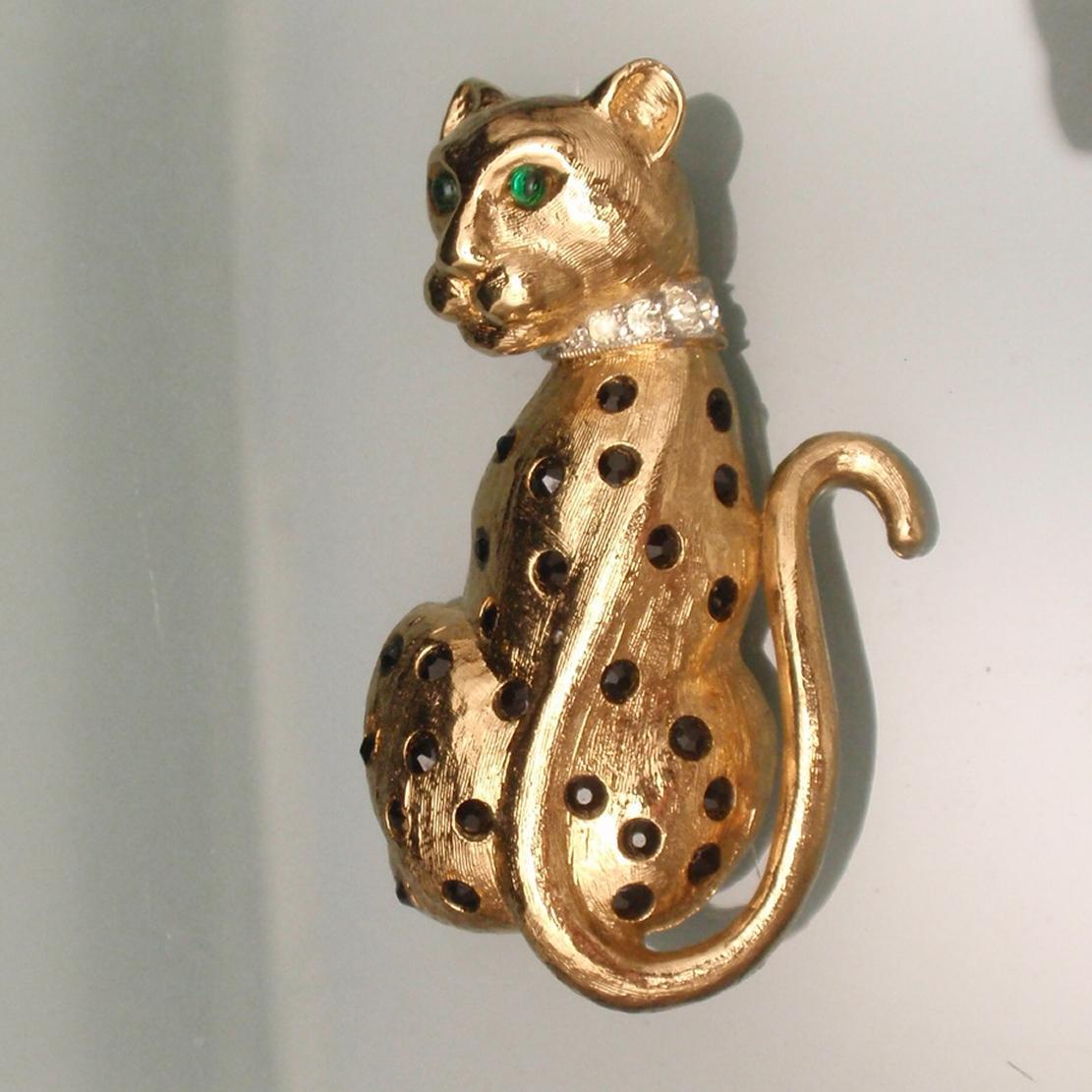 Leopard Brooch Pin Vintage Panetta Big Cat Jaguar