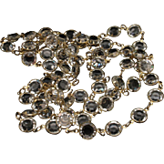 "52"" Strand Crystal Necklace Vintage Chain"
