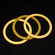 Lot of 3 Spacers or Bangle Bracelets