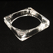 Square Acrylic Bangle Bracelet