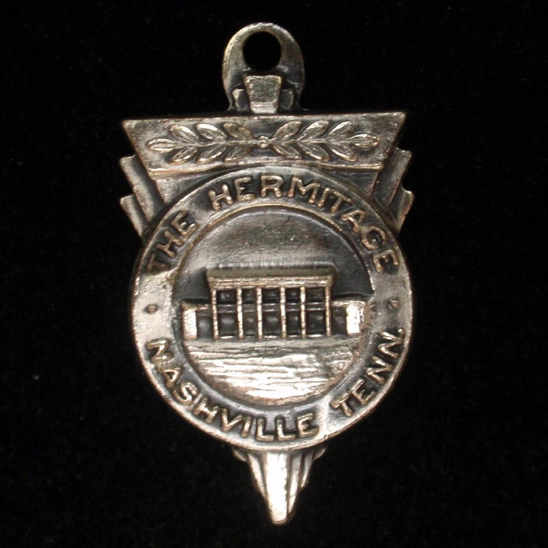 The Hermitage Nashville Tennessee Charm Vintage Sterling Silver B&K Travel Souvenir