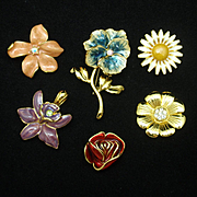 Joan Rivers Flower Set Interchangeable Blooms Pins Pendants