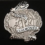 Atlanta Olympics Closing Ceremonies Lapel Pin Sterling Silver Balfour