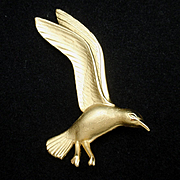 Seagull Pin Vintage Giovanni Figural Bird Brooch