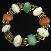 3 Color Cameo Bracelet Vintage