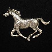 Race Horse Brooch Pin