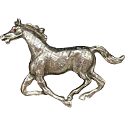 Race Horse Brooch Pin