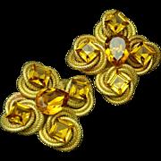Wendy Gell Earrings Vintage Large Stones