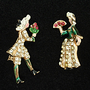 Scatter Pins European Court Aristocrat Costumes Vintage