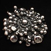 Silver Electroform Flower Pendant Israel