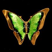 Butterfly Pin Vintage Enamel Brooch