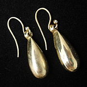 Sterling Silver Vermeil Teardrop Earrings