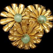 Miriam Haskell 3-Flower Dress Clip Vintage