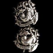 Zodiac Earrings Vintage Sterling Silver Capricorn by Cini