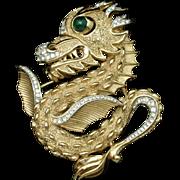 Dragon Brooch Pin Andre Boeuf for Trifari Vintage