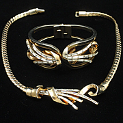 Trifari METEOR Necklace and Bracelet Set Vintage 1949 pat pend