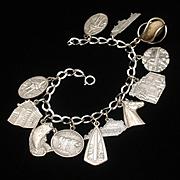 Kentucky Charm Bracelet Vintage Heritage Sterling Silver