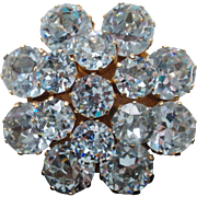 Kramer Alexandrite Rhinestones Brooch Pin Changes Color Pale Blue to Purple