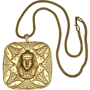 Miriam Haskell Pendant Necklace Egyptian Revival Vintage